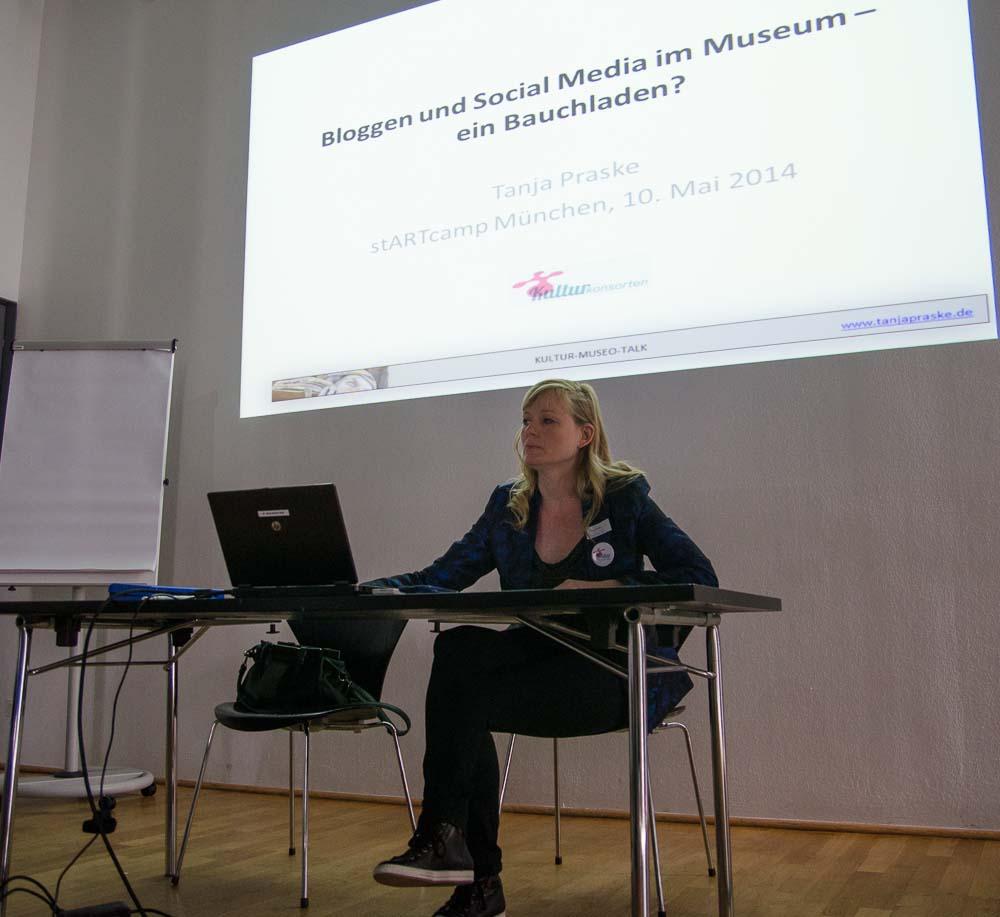 stARTcamp München 2014 digitales.weiter.denken 1. Session mit Tanja Praske